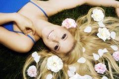 Flowery hair Royalty Free Stock Photos