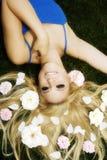 Flowery hair Stock Image