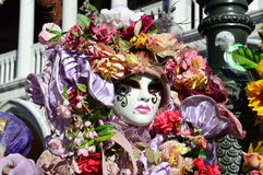 Flowery mask Royalty Free Stock Photography
