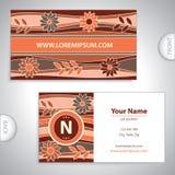 Flowery pattern business card. Universal flowery pattern business card Stock Images