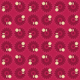 Flowery Pattern EPS. Seamless red, pink and yellow flowery pattern. Available in vector EPS format royalty free illustration