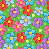 Flowery seamless background 1. Vector illustration royalty free illustration