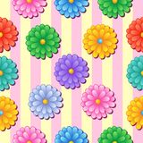 Flowery seamless background 5 Royalty Free Stock Image