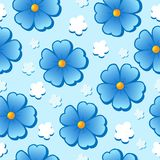 Flowery seamless background 7 Stock Image