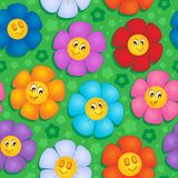 Flowery seamless background 8 Royalty Free Stock Image
