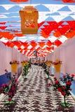 Flowery Streets, Redondo Village, Portugal. Royalty Free Stock Photos