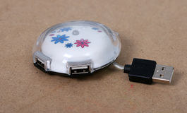 Flowery usb saucer hub Royalty Free Stock Image