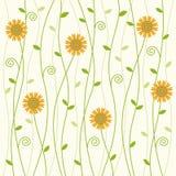 Flowery vine background pattern Royalty Free Stock Photos