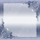 Flowery vintage lacy frame Stock Photo