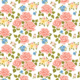 Flowery wallpaper background. Floral flowery rose wallpaper background stock illustration
