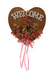 Flowery Welcome Sign Stock Image