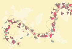 Flowing abstract butterfly background Royalty Free Stock Image