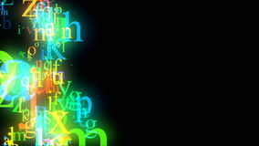 Flowing alphabet loop Royalty Free Stock Image