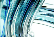 Flowing aqua glass Royalty Free Stock Photo