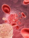 Flowing blood Stock Image