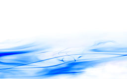 Flowing blue waves Royalty Free Stock Photos