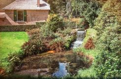 Free Flowing Brook At A House In The Park At Castle The Castle Rosendael Royalty Free Stock Images - 114191029