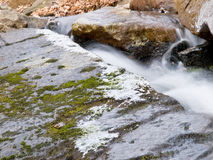 Flowing Brook in Winter Stock Photography