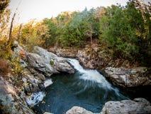Flowing Brook in Winter Stock Photos