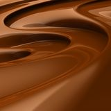 Flowing brown chocolate swirl. 3D rendered image of flowing brown chocolate Stock Photo
