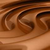 Flowing brown chocolate swirl. 3D rendered image of flowing brown chocolate Royalty Free Stock Images