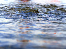 Flowing bubbling water Stock Photo