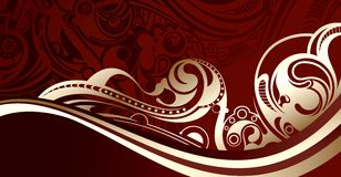 Flowing Chocolate. Illustration of abstract flowing chocolate Royalty Free Stock Images