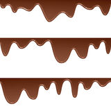 Flowing chocolate drops. Background of flowing chocolate drops stock illustration