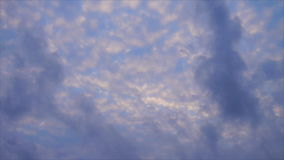 Flowing of cloud at morning stock video