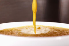 Flowing coffee Stock Photo