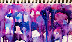 Flowing colors in notebook Royalty Free Stock Images