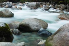 Flowing creek. North Vancouver, BC, Canada Stock Photo