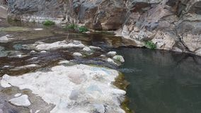 Flowing creek in Tonto national forest Stock Photos