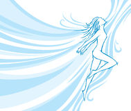 Flowing dancer. Embodies dancing and freedom Royalty Free Stock Photography