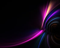 Flowing Electric Plasma. A glowing fractal design that works great as a background or backdrop Stock Image