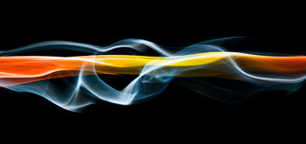 Flowing energy streaks Royalty Free Stock Image