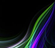 Flowing Fibers Abstract. Flowing colorful fibers with copy space - fractal abstract background Royalty Free Stock Photography