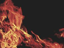 Flowing fire royalty free stock images
