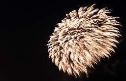 Flowing fireworks at night Royalty Free Stock Photo