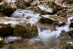 Flowing and Freezing Royalty Free Stock Images