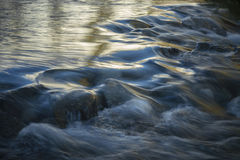 Flowing Glacial Stream. Fresh melted snow and glacial water in Sierra Stock Photography