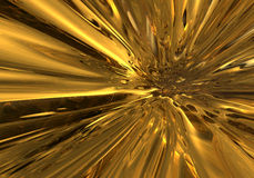 Flowing gold. Abstract golden flare Royalty Free Stock Photo