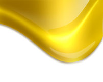Flowing golden drop Royalty Free Stock Image