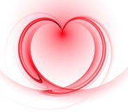 Flowing Heart Abstract Royalty Free Stock Photography
