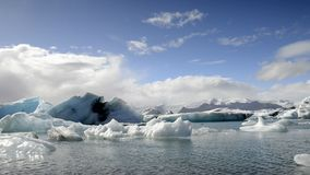 Flowing Icebergs Stock Photography