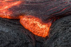 Flowing lava in Hawaii Stock Photos
