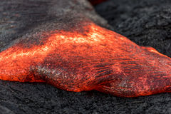 Flowing lava in Hawaii Royalty Free Stock Image