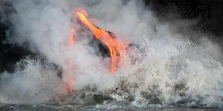 Flowing lava Royalty Free Stock Photos