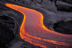 Free Flowing Lava In Hawaii Royalty Free Stock Photography - 139172657