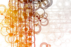 Flowing Lines and Circles Abstract Royalty Free Stock Images
